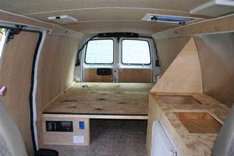 van bed plans   build wood sided utility