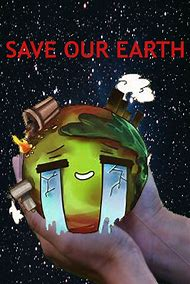 poster save earth drawing