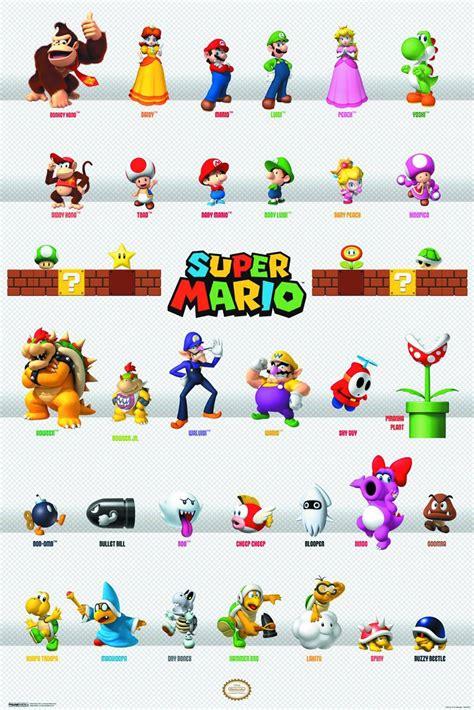 Super Mario Bros Characters U00 Poster Super Mario