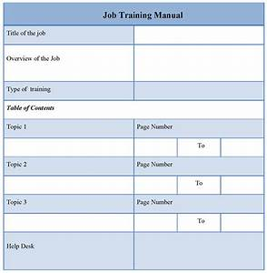 Training template new calendar template site for Staff training manual template