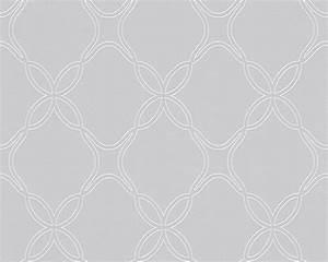Tapete Muster Grau : vlies tapete grafisches ornament muster grau wei sch ner ~ Michelbontemps.com Haus und Dekorationen