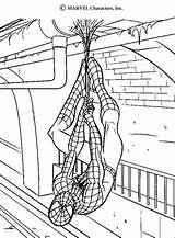 Coloring Tunnel Spiderman sketch template