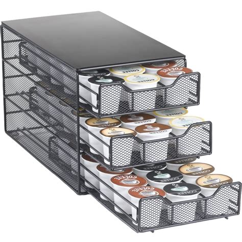 k cup drawer organizer k cup storage drawer holds 54 in tea and coffee storage