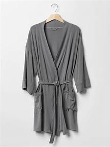 gap modal robe in beige gun powder With robe gap