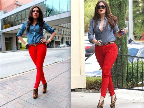 Khloe Kardashian Inspired  Red Jeans | Ashley Meza | Dallas Fashion Blog