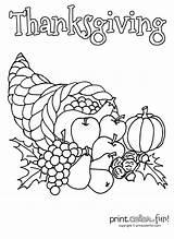 Cornucopia Coloring Thanksgiving Pages Printable Drawing Map Horn Plenty Printcolorfun Fun Craft Fall Draw Ready England Thankgiving Minion Help Davemelillo sketch template