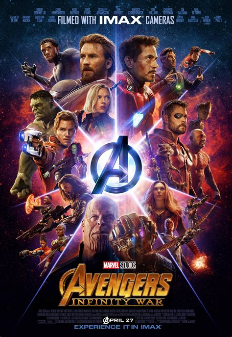 avengers infinity war imax kinoposter mit  easter