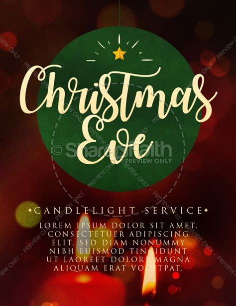 christmas eve candlelight service flyer template flyer