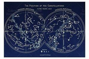 The Position Of The Constellations  Printable For Framing