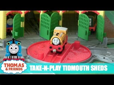 thomas and friends take n play tidmouth sheds youtube