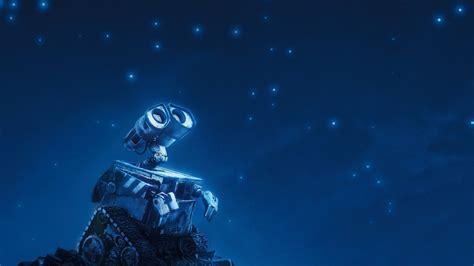 wallpaper night robot stars movies blue underwater
