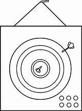 Coloring Dart Board Clip Dartboard Clipart Darts Line Sweetclipart sketch template