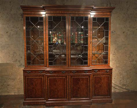 pictures of china cabinets traditional george iii mahogany china cabinet bookcase replica