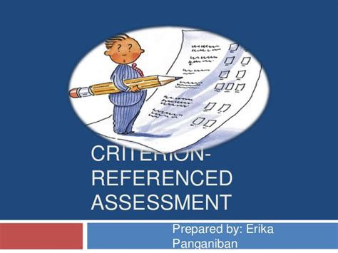 criterion referenced assessment criterion referenced assessment