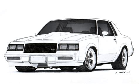 Buick Grand National Wallpaper by 1986 Buick Grand National Drawing Wallpaper 2317x1412