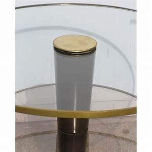 Esstisch Rund Glas : esstisch rund aus glas und messing vergoldet moinat sa antiquit s d coration ~ Orissabook.com Haus und Dekorationen
