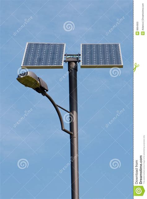 solar powered l post stock photo image of panel