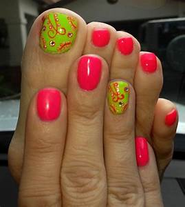 Best ideas about green toe nails on