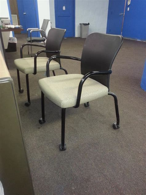 used office chairs stacking side chair with casters at