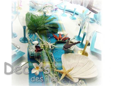 decoration table theme madras turquoise