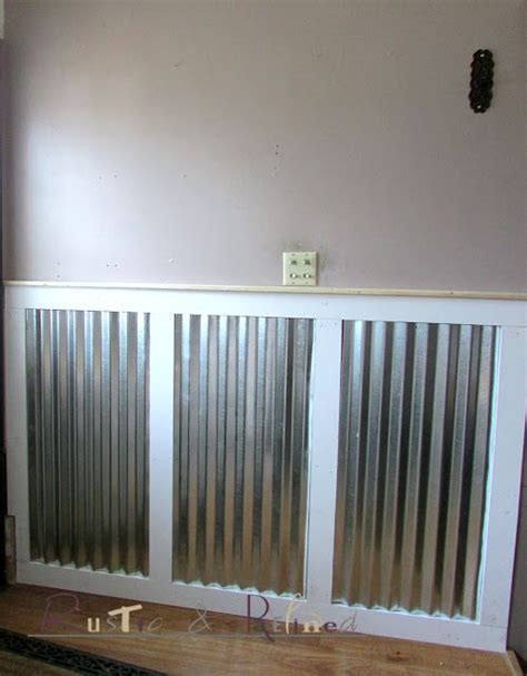 adding galvanized tin  wainscoting ideas   house