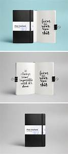 Business Card Download Notebook Mockup Psd Graphicburger