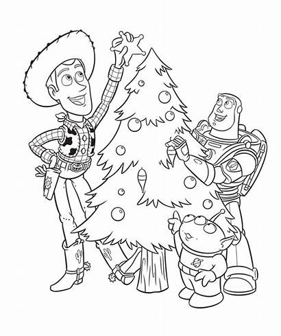 Coloring Disney Pages Christmas Toy Story