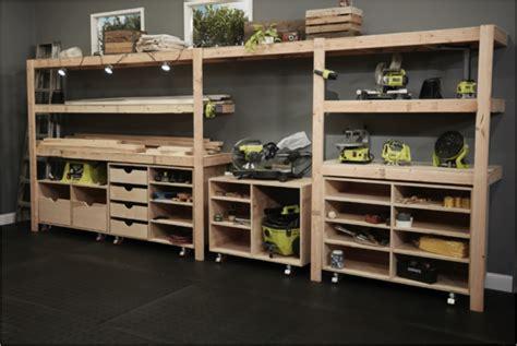 Shop Storage Shelves by The Ryobi Nation Workshop Ryobi Nation Diy
