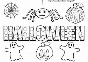 Dessin D Halloween Facile : coloriage tableau halloween ~ Dallasstarsshop.com Idées de Décoration