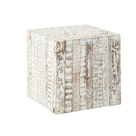 bout de canape bois bout de canapé en bois blanchi l 35 cm patras maisons du
