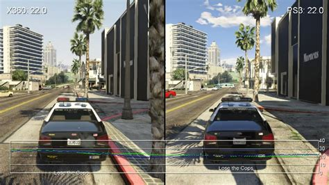 Grand Theft Auto 5 Xbox 360 Vs. Ps3 Gameplay Frame-rate