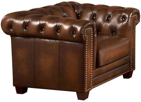 Stanley Park Ii Brown Leather Armchair From Amax Leather