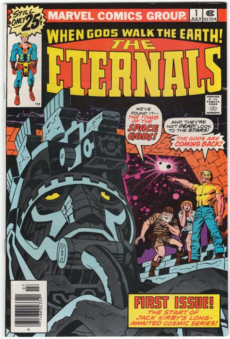 The Eternals 1 Marvel Comics For Sale Jack Kirby 1976 NM-