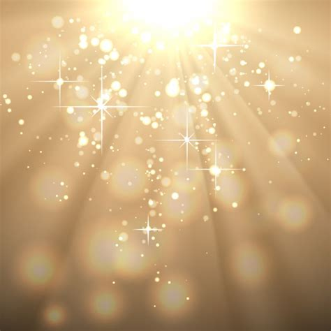 golden abstract background with sun rays vector free