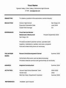 Resume Templates High School Graduate  Best Student Sample