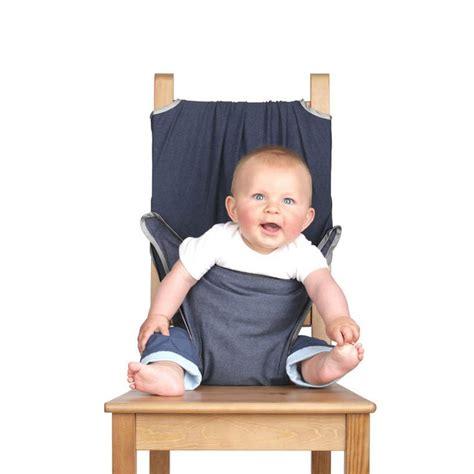 chaise nomade bébé chaise nomade bébé totseat silver bound denim maman