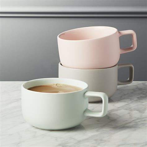 Roy kirkham latte mug pansy coffee mugs cafe drinks tall flowers garden home. Major Large Mugs   CB2   Modern mugs, Large coffee mugs, Unique coffee mugs