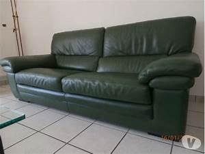 fauteuils cuir vert fonce clasf With canapé en cuir vert