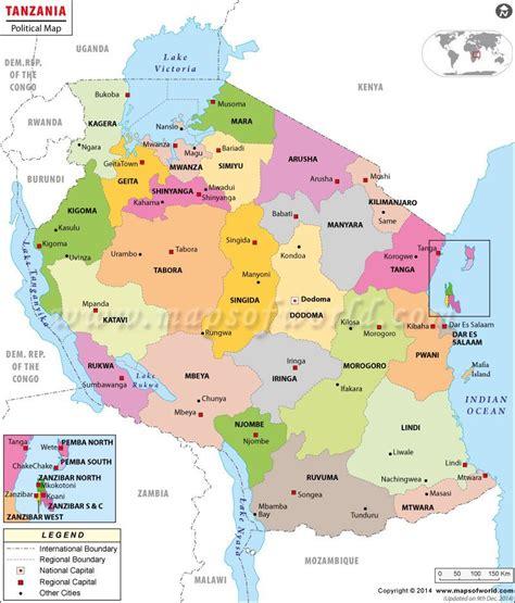 mapa de tanzania    great maps map tanzania