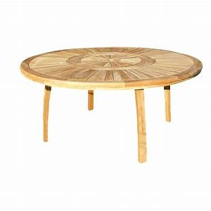Table De 8 : table de jardin orion ronde naturel 8 personnes leroy merlin ~ Dallasstarsshop.com Idées de Décoration
