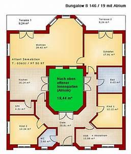 Atrium Bungalow Grundrisse : atrium 8 146 19 projekt bungalow einfamilienhaus neubau massivbau stein auf stein traumh user ~ Bigdaddyawards.com Haus und Dekorationen
