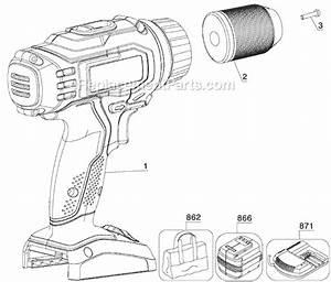 Porter Cable Pcl180d Parts List And Diagram