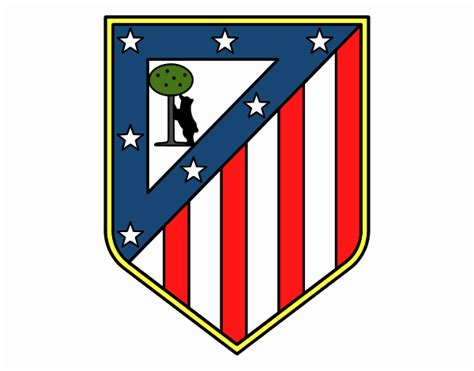 Atletico madrid has seen 11 crests in its long footballing history. Colored page Atlético Madrid crest painted by User not ...