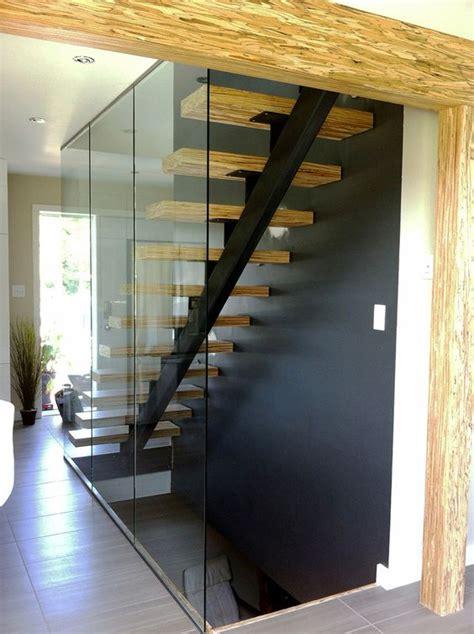 bureau acier et verre escalier acier bois et panneaux de verre structure
