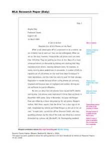 MLA Format Research Paper Sample