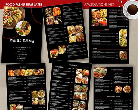 siege social sushi shop food menu template id26 brochure templates creative market