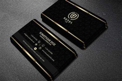 gold  black business card  business card templates