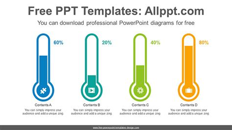 thermometer bar chart powerpoint diagram template