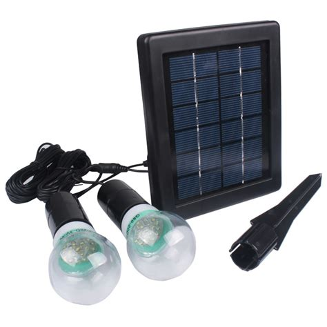 portable solar panel power led light l bulb outdoor