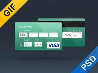 Credit Card Flat Psd Contour Skeuomorph Payment